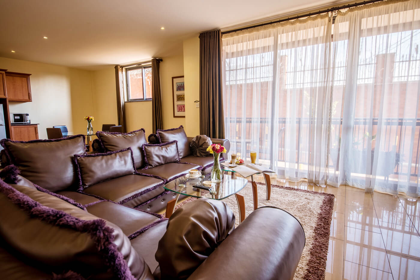Bukoto Heights Apartments -Sitting-Room